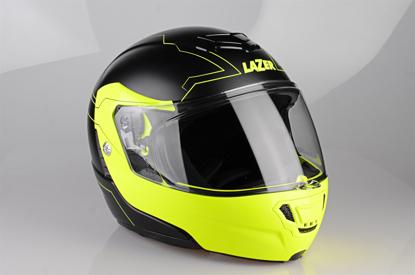 Obrázek LAZER  Monaco EVO Droid Pure Glass, Barva: černá matná - žlutá fluo