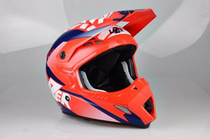 Obrázek LAZER MX8 X-Team Karbon, Barva: červená - bílá - modrá - matná