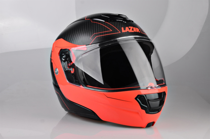 Obrázek LAZER  Monaco EVO Droid pravý Karbon Barva: černá - matná - karbon - oranžová