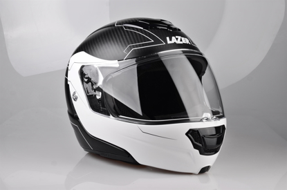 Obrázek LAZER  Monaco EVO Droid Pure Glass, Barva: černá matná - bílá