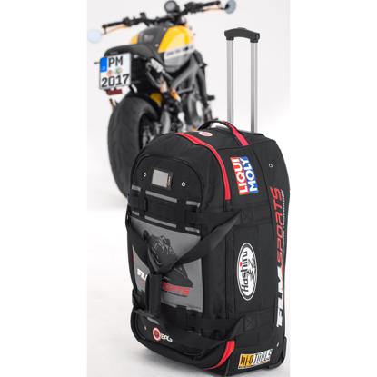 Obrázek QBag Cestovní textilní kufr na kolečkách s popruhy 120l